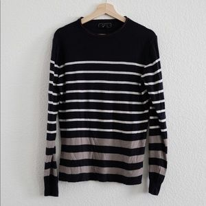 21 Men (Forever 21) Color Block Striped Sweater
